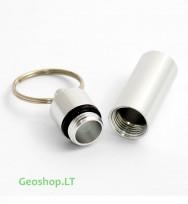 Mikro konteineris, aliumininis, sidabro spalvos