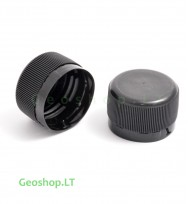 PET mikro konteinerio kamštelis juodos spalvos (ilgas)