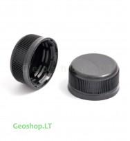 PET mikro konteinerio kamštelis juodos spalvos (trumpas)