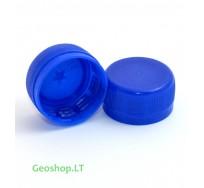 PET mikro konteinerio kamštelis mėlynos spalvos (trumpas)