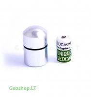 Nano konteineris,  aliumininis, sidabro spalvos su užrašine