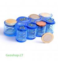 Euro monetų laikiklis, dėklas, mėlynas