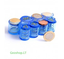Euro coins holder (dispenser), Blue