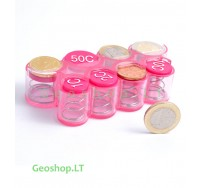Euro coins holder (dispenser), Pink color