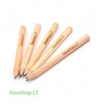 Trumpas pieštukas su Geoshop.LT logotipu, 5 vnt