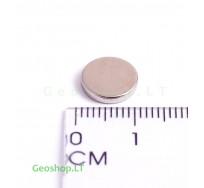 D12x2 N45 Neodimo magnetas, apvalus