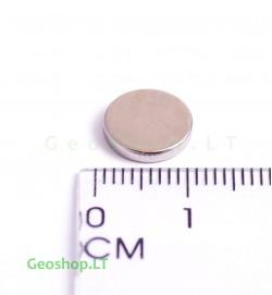 Neodimo magnetas, apvalus, N42 D10x2