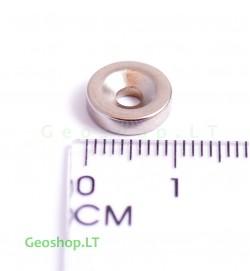 Neodimo magnetas, apvalus, N35 D12x3 su konusine skyle
