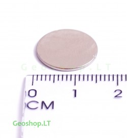 Neodimo magnetas, apvalus, N35 D15x1
