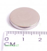 Neodimo magnetas, apvalus, N35 D20x3