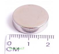 Neodimo magnetas, apvalus, N38 D20x5