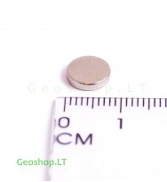 Neodimo magnetas, apvalus, N35 D8x2