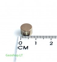 Neodimo magnetas, apvalus, N38 D8x5