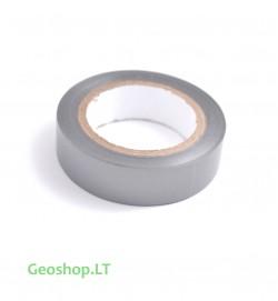 Siaura, pilkai-sidabrinė lipni PVC juosta
