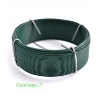 Cinkuota viela su žaliu PVC apvalkalu, 0,8/1,1 mm