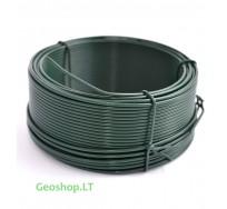 Cinkuota viela su žaliu PVC apvalkalu, 1,2/1,8 mm