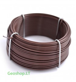 Cinkuota viela su rudu PVC apvalkalu, 0,8/1,3 mm