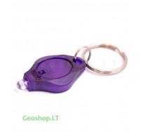 Ultavioletinis žibintuvėlis - raktų pakabukas