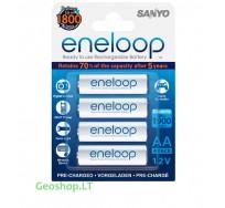 4 vnt įkraunamų elementų AA Eneloop 1900 mAh