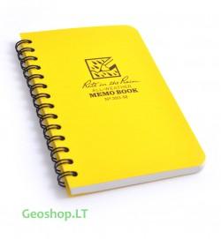 Vidutinė Rite in the Rain užrašų knygelė No373-M, geltona