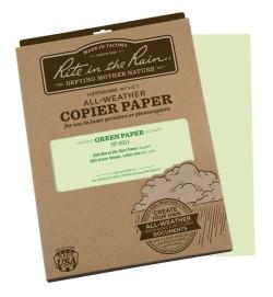 Žalias Letter formato Rite in the Rain drėgmei ir vandeniui atsparus popierius