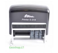 Antspaudas + datatorius Shiny Printer S-314 (MMMM-MM-DD)