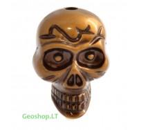 Kaukolė, bronzos spalvos