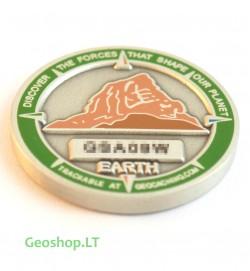 Mikro geomoneta - keturi elementai (Žemė)