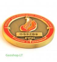 Mikro geomoneta - keturi elementai (ugnis)