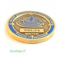 Mikro geomoneta - keturi elementai (vanduo)