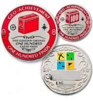 100 lobių radimų pasiekimo geomoneta
