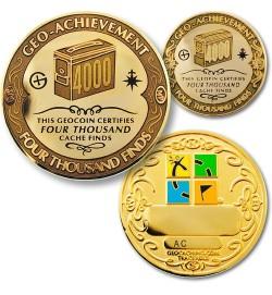 4000 lobių radimų pasiekimo geomoneta