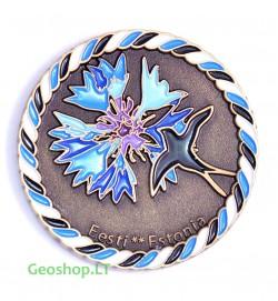 """Estiška geomoneta """"Caching and Culture: Estonia"""", bronzos spalvos"""