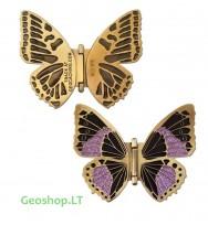 Plasniojančio drugelio Geomoneta - auksinė