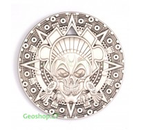 Actekų piratų geomoneta, sidabro spalvos