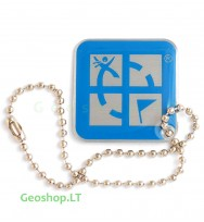 Geocaching Logo - keliaujantis prisegtukas - mėlynas