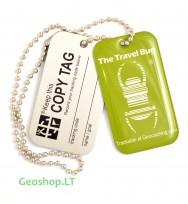 Žalias QR Travel Bug - keliauninkas