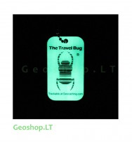 Švytintis tamsoje QR Travel Bug - keliauninkas